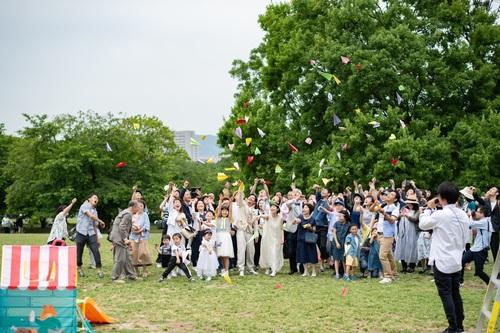 大阪 北摂 緑地公園 万博公園 アウトドアウェディング ガーデンウェディング オリジナルウェディング ウェディングプロデュース フリープランナー 結婚式