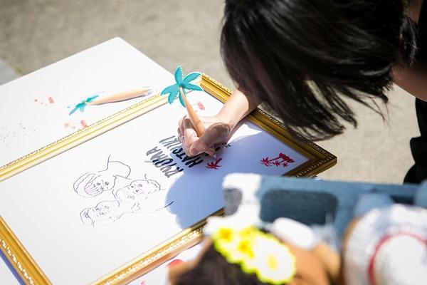 aloha ガーデンウェディング ハワイ 邸宅 大阪 神戸 ウェエディングデザインラボ