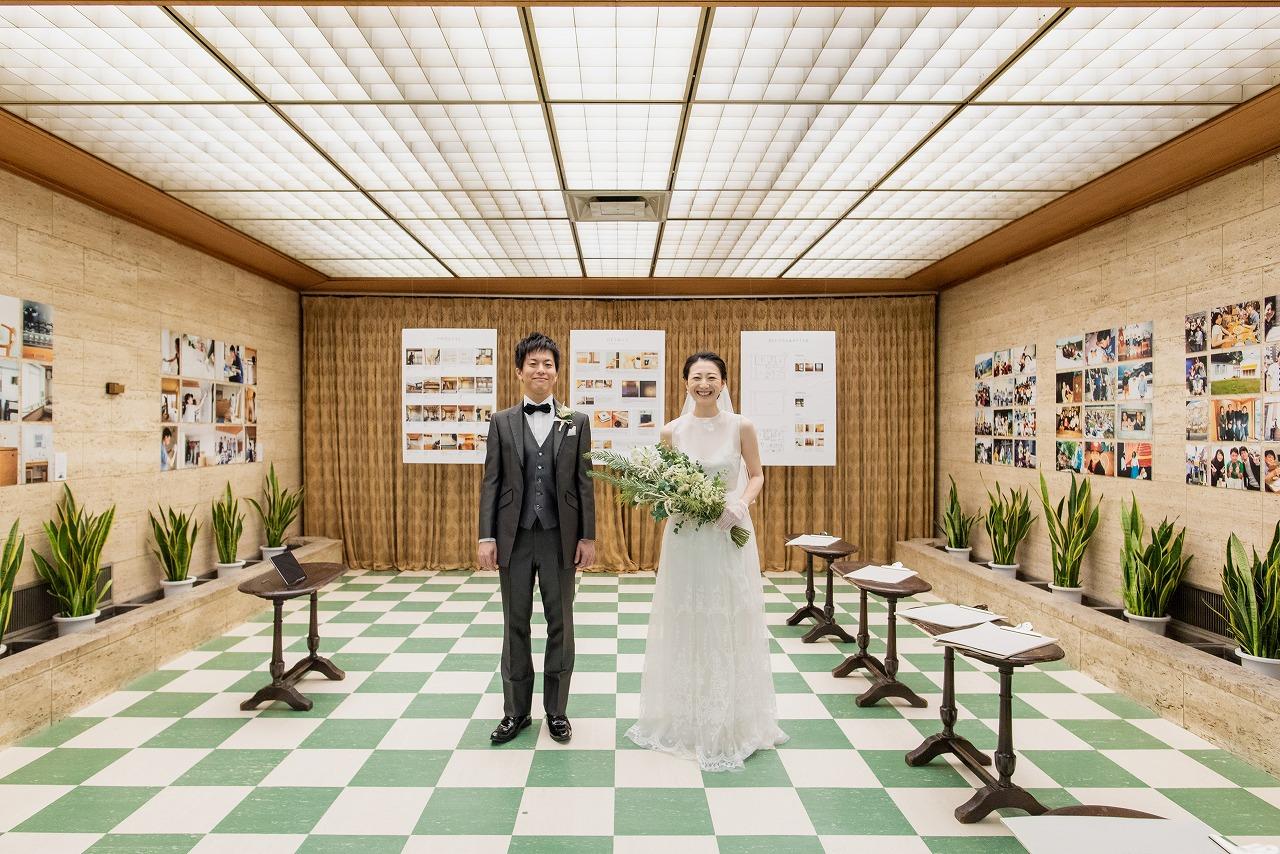 オリジナルウェデイング レトロウェディング 美術館ウェディング WEDDING DESIGN LAB 綿業会館 レトロウェディング