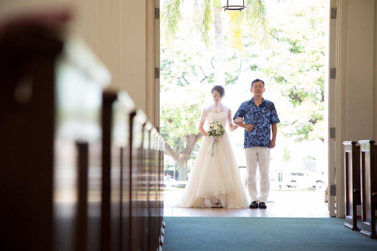 ハワイウェディング ハワイウェディングプロデュース ハワイオリジナルウェディング Hawaiiウェディング ハワイオーダーメイドウェディング セントラルユニオン教会 モアナサーフライダー ハワイウェディングプランナーフリー