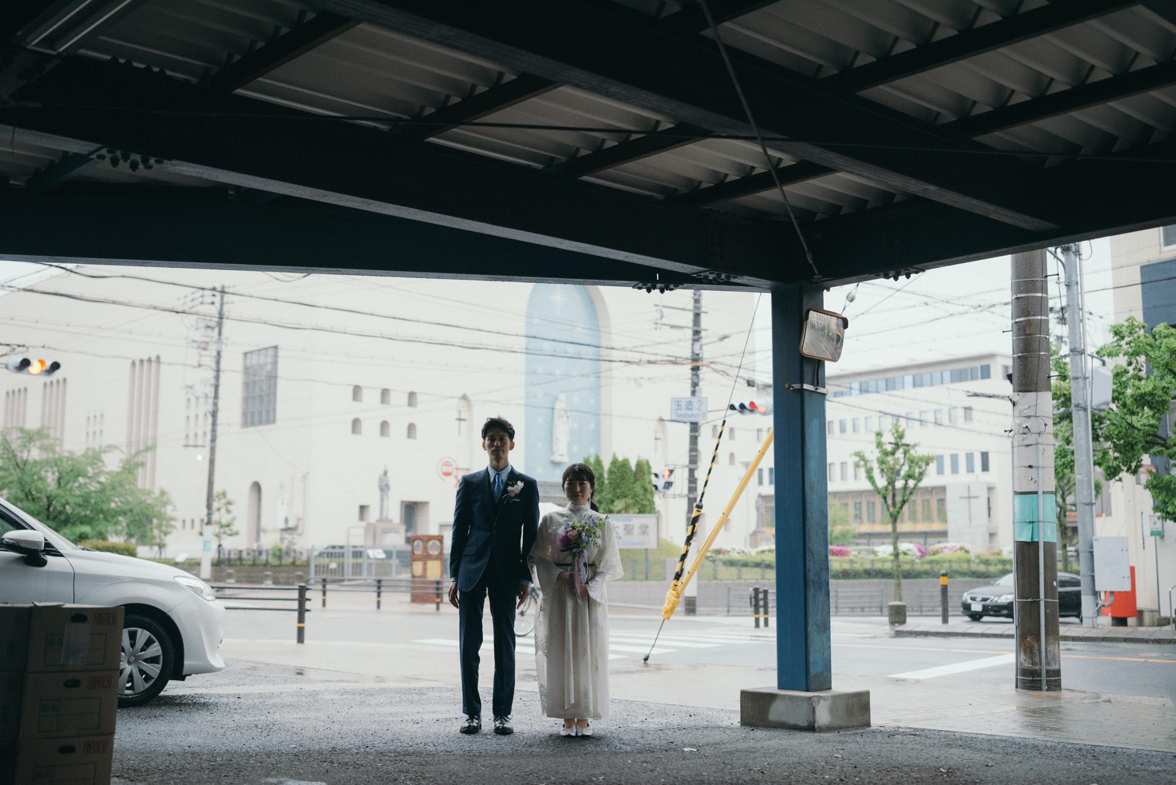 街歩きフォトウェディングと前撮り大阪