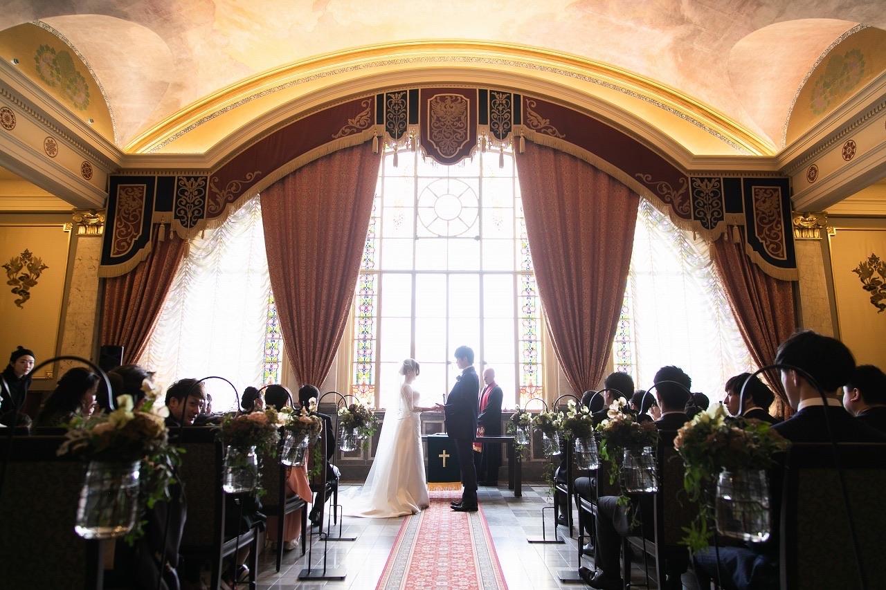 重要文化財の中央公会堂で家族婚