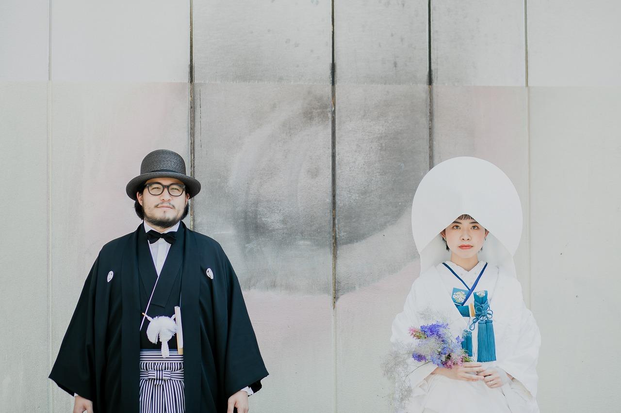白無垢に綿帽子の和装フォト